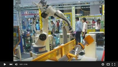 體育用品展OTC ROBOT搭配外部軸
