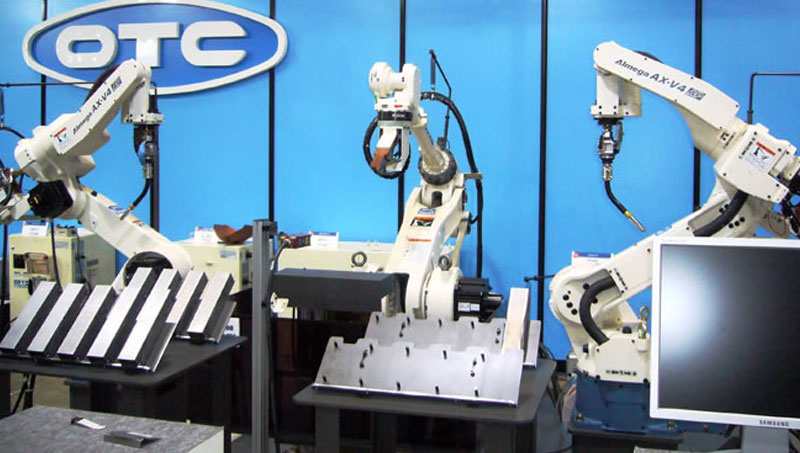 OTC sales performance automation welding robot guidance proud