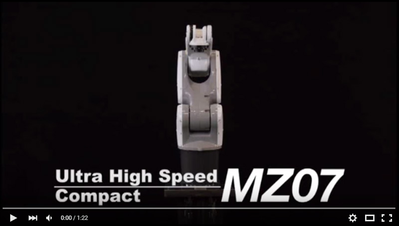 NACHI MZ07, the World's Fastest Lightweight and Compact Robot