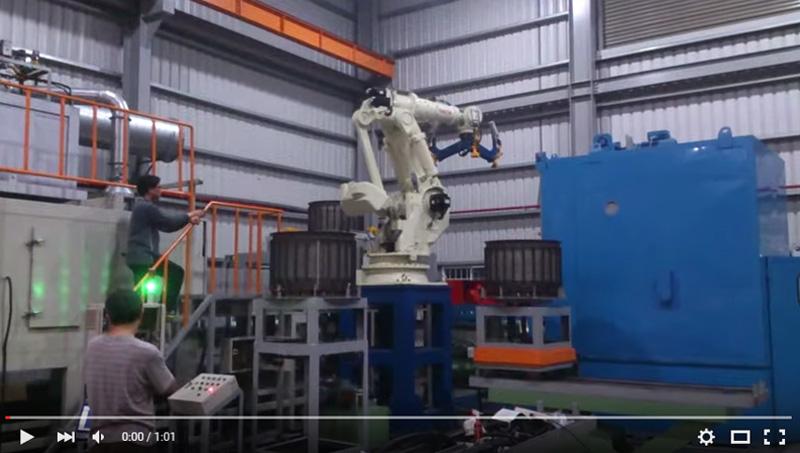 NACHI ROBOT Handing Workpiece