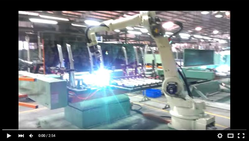 OTC ROBOT Welding Workpiece